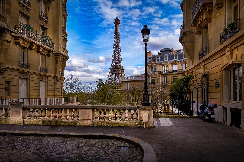 Eines der ganz besonderen Plätze, von dem man den Eiffelturm sieht.